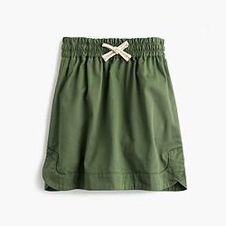 Girls' pull-on chino skirt