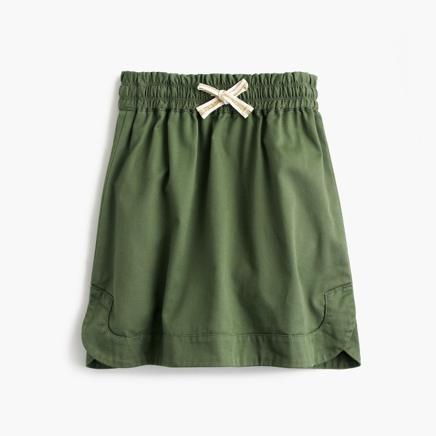 Girls' pull-on chino skirt
