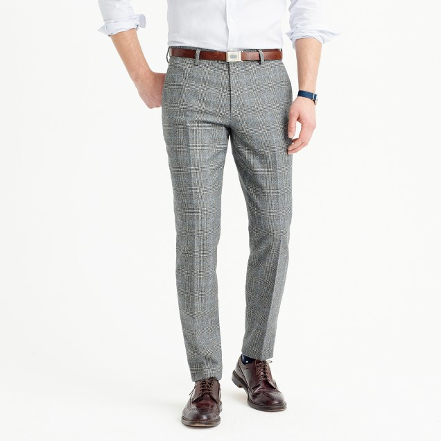 Ludlow suit pant in Italian glen plaid wool