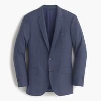 Ludlow suit jacket in glen plaid American wool