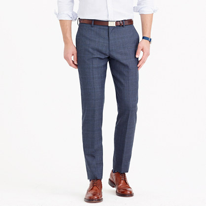Ludlow suit pant in glen plaid American wool