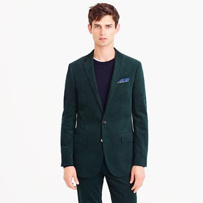 Ludlow suit jacket in Italian cotton corduroy