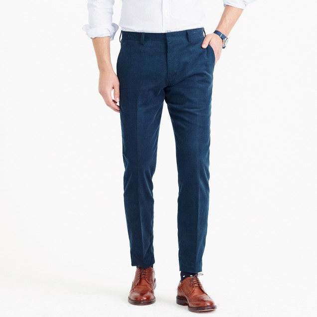 Ludlow suit pant in Italian cotton corduroy