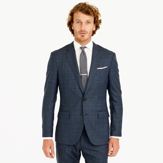 Crosby suit jacket in glen plaid American wool