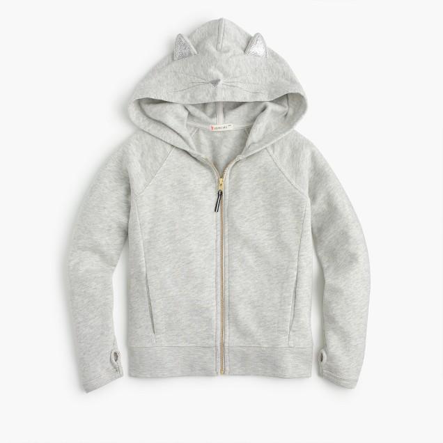 Girls' kitty hoodie
