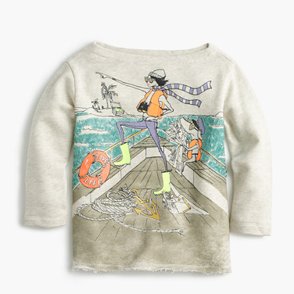 Girls' Olive and Izzy sailing T-shirt
