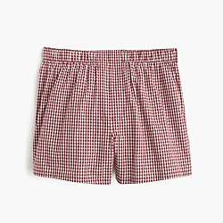 Red gingham boxers