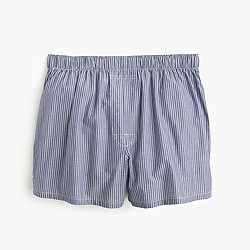 Navy-striped boxers