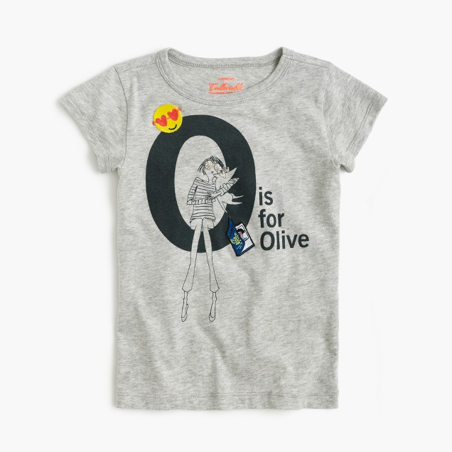 "Girls' ""O is for Olive"" T-shirt"