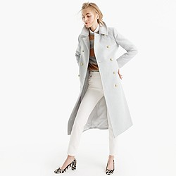 Petite double-breasted topcoat in wool-cashmere
