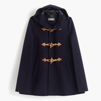 Toggle cape in wool cashmere