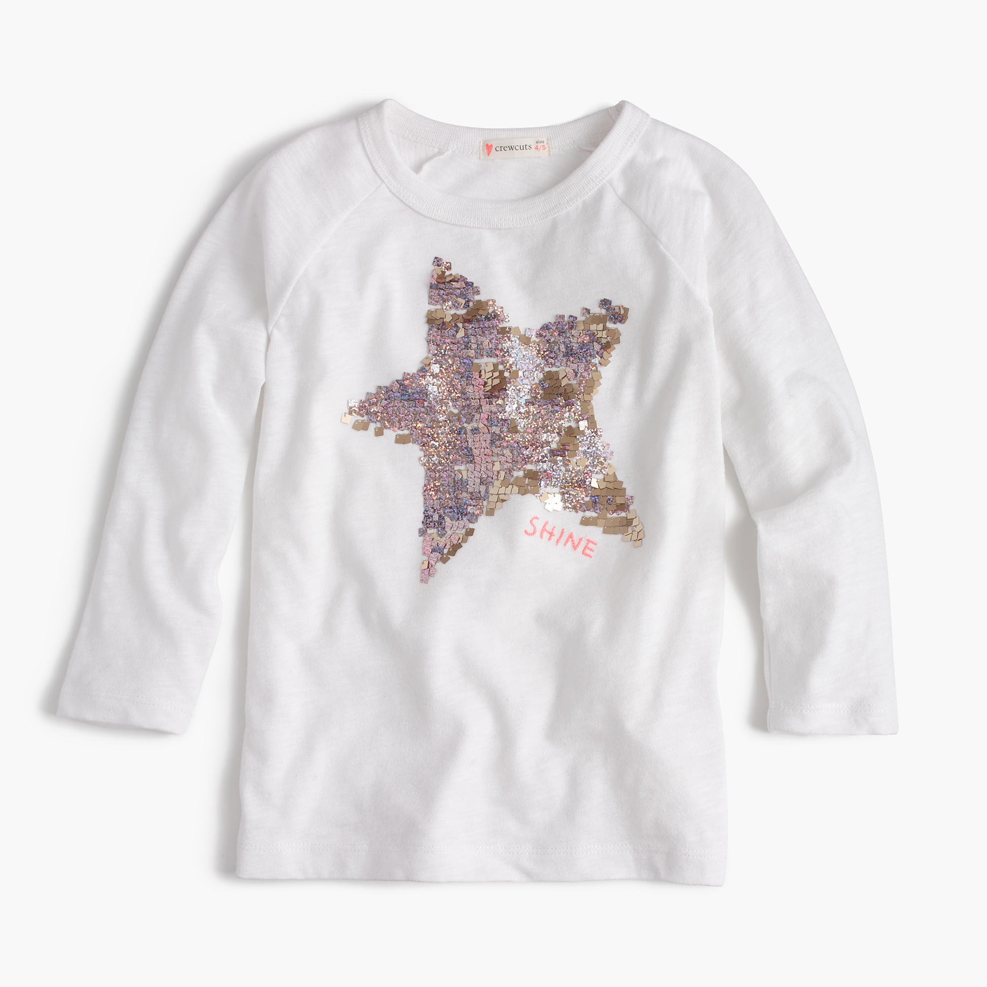 Girls 39 sequin star t shirt girls 39 tees j crew for Girls sequin t shirt