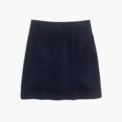 Mini skirt in corduroy