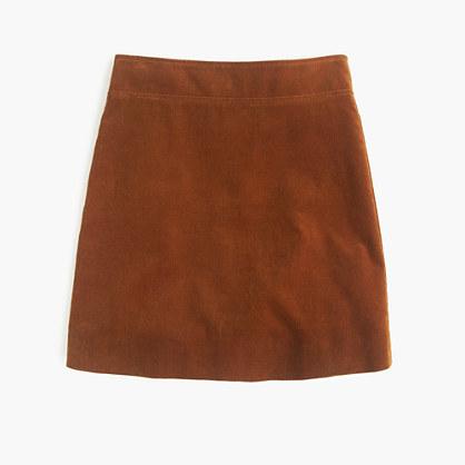 Petite mini skirt in corduroy