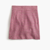 Tall mini skirt in pink houndstooth