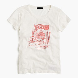 """Venice"" embroidered destination art T-shirt"