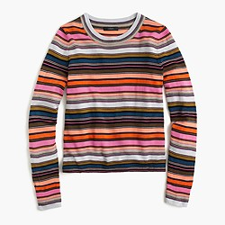 Rainbow stripe sweater in merino wool