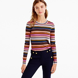 Rainbow stripe sweater in merino wool