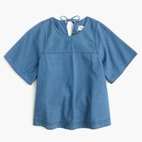 Petite swing top in Spanish indigo