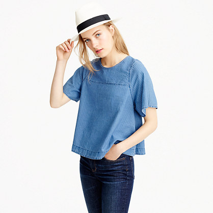 Swing top in Spanish indigo