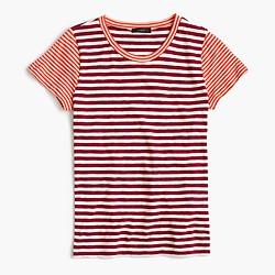 Vintage cotton mixed-stripe T-shirt