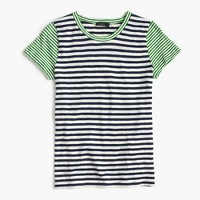 Vintage cotton mixed-stripe T-shirt