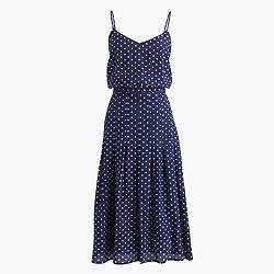 Spaghetti-strap dress in polka dot
