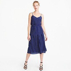 Tall spaghetti-strap dress in polka dot