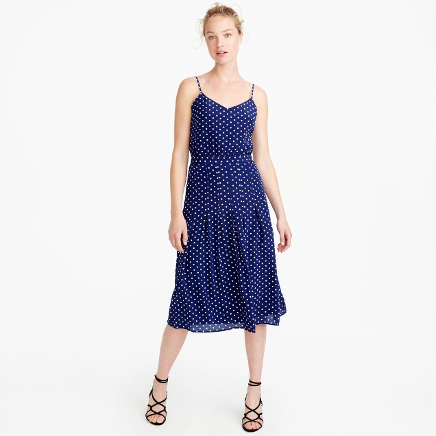 Spaghetti-strap dress in polka dot