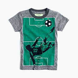 Boys' glow-in-the-dark soccer T-shirt in the softest jersey