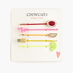 Girls' fall bobby pin five-pack