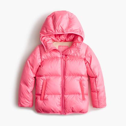 Girls' marshmallow puffer jacket