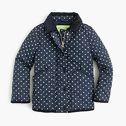Girls' Barn jacket™ in polka dot