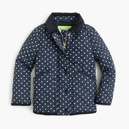 Girls' Barn jacket™ in polka dot
