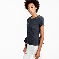 Structured peplum top