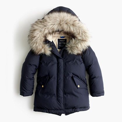 Girls' puffer parka