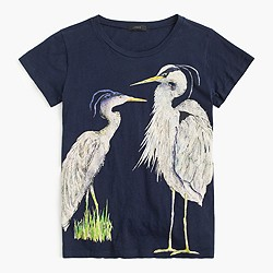 Blue heron art T-shirt