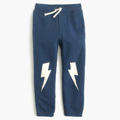 Boys' glow-in-the-dark lightning bolt sweatpant in classic fit