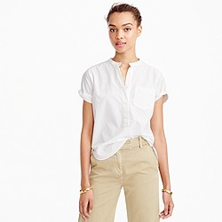 Relaxed popover in end-on-end cotton
