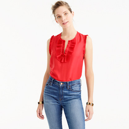 Petite Margot top in silk