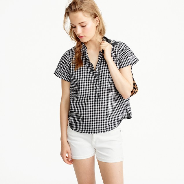 Relaxed popover shirt in gingham