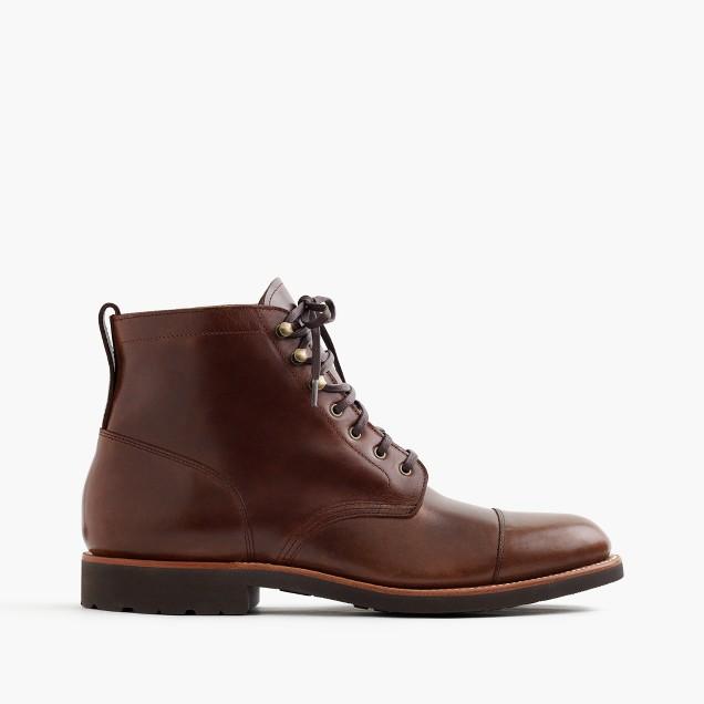 Kenton leather cap-toe boots