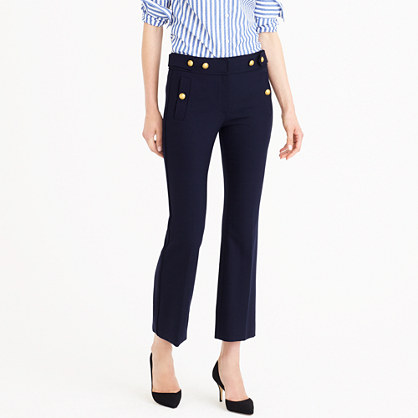 Petite sailor pant in bi-stretch wool