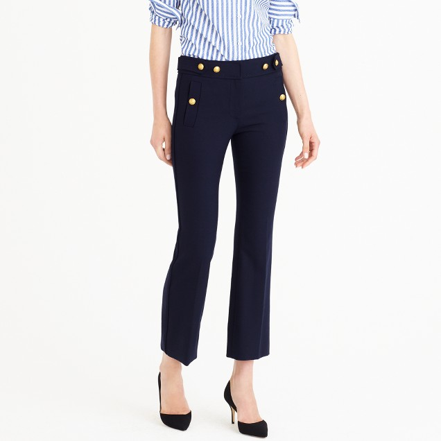 Petite sailor pant in two-way stretch wool