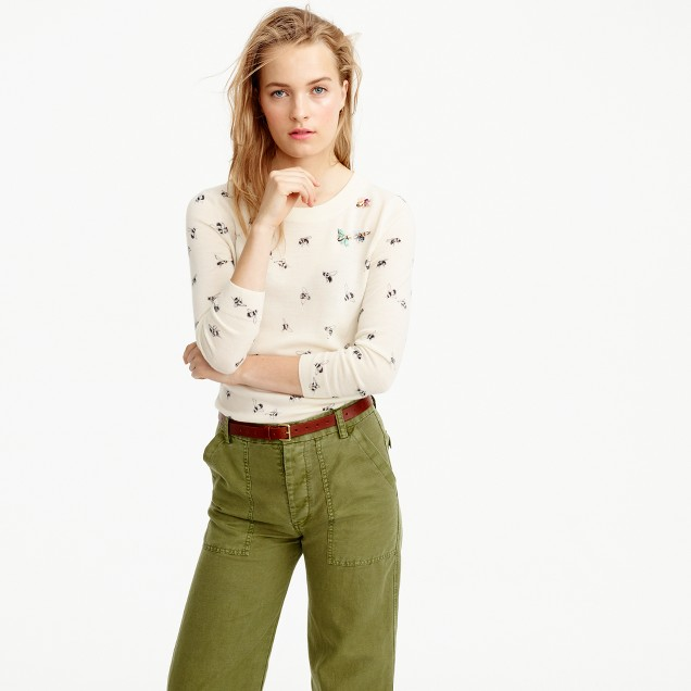 Tippi sweater in embellished bee print