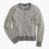 Cotton Jackie cardigan in herringbone