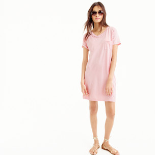 Garment-dyed pocket T-shirt dress