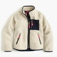 Girls' sherpa jacket