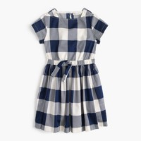 Girls' buffalo plaid dress