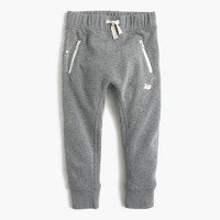 Girls' skinny zip kitty-pocket sweatpant